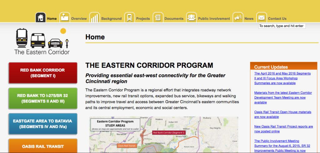 EasternCorridorHomepage